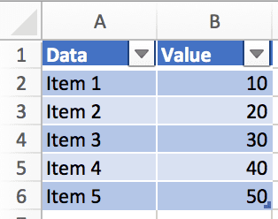 Set Multiple Named Ranges - Table